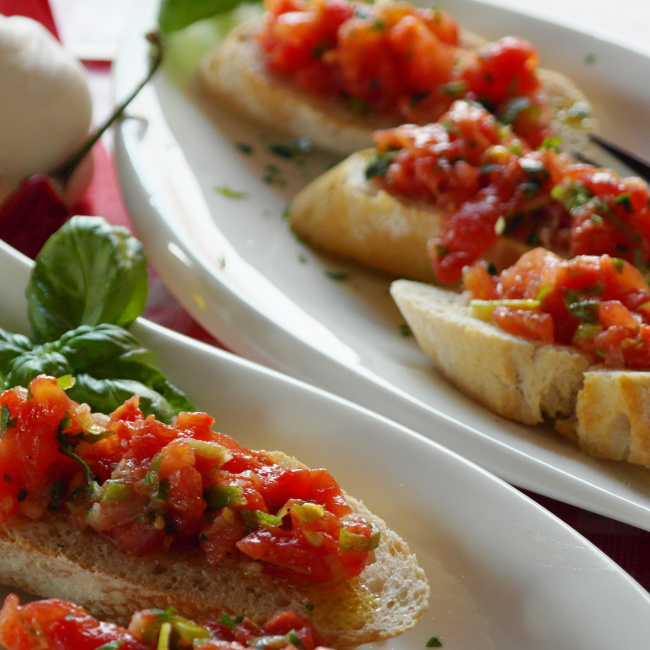 Catering Bruschetta Color H650